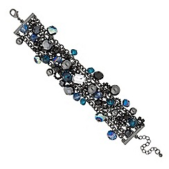 Betty Jackson.Black - Designer mixed bead cluster bracelet