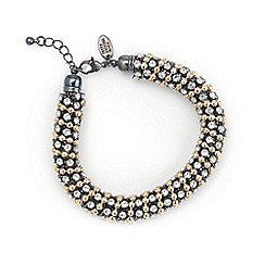 Betty Jackson.Black - Designer diamante and gold ball chain bracelet