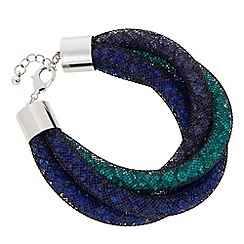 Betty Jackson.Black - Designer blue and green net twist bracelet