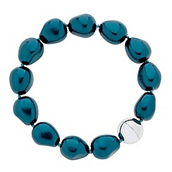Betty Jackson.Black - Designer teal baroque style pearl magnetic bracelet