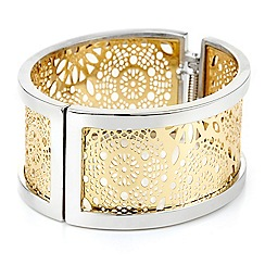 Betty Jackson.Black - Filigree 2 tone bangle