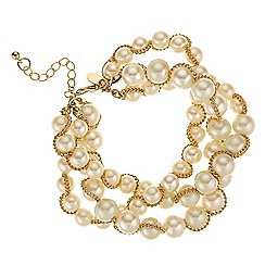 Betty Jackson.Black - Pearl and chain twisted bracelet