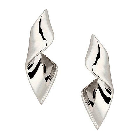 Principles by Ben de Lisi - Designer silver twist drop earring