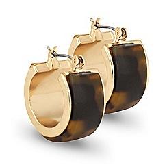 Principles by Ben de Lisi - Designer mini tortoise gold hoop earring