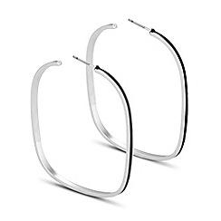 Principles by Ben de Lisi - Designer black enamel square hoop earring