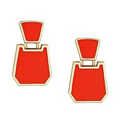 Principles by Ben de Lisi - Designer orange enamel chunky drop earring