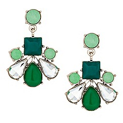 Principles by Ben de Lisi - Designer green chandelier earring
