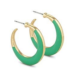 Principles by Ben de Lisi - Designer turquoise enamel hoop earring