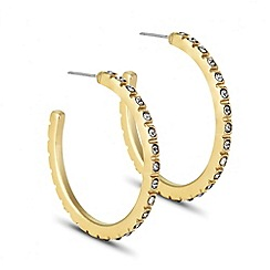 Principles by Ben de Lisi - Designer grey crystal encased hoop earring
