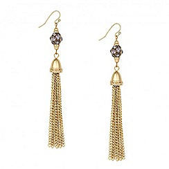 Principles by Ben de Lisi - Designer grey cluster tassel drop earring
