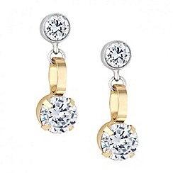 Principles by Ben de Lisi - Designer mixed metal crystal drop earring