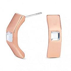 Principles by Ben de Lisi - Designer stone set rose gold stud earring