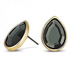 Principles by Ben de Lisi - Designer grey peardrop stud earrings