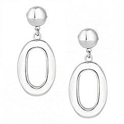 Principles by Ben de Lisi - Designer silver hoop drop earring