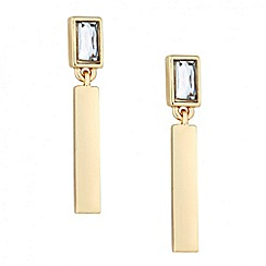 Principles by Ben de Lisi - Designer grey crystal and gold stick earring