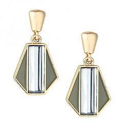 Principles by Ben de Lisi - Designer grey enamel 3-d drop earring
