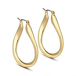 Principles by Ben de Lisi - Designer twisted gold hoop earring