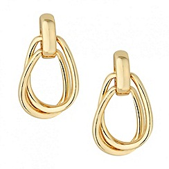 Principles by Ben de Lisi - Designer double gold link earring