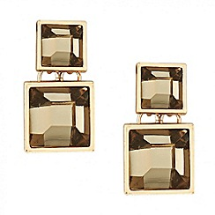 Principles by Ben de Lisi - Designer graduated grey square drop earring