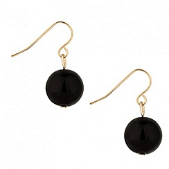 Principles by Ben de Lisi - Designer black pearl drop earrings