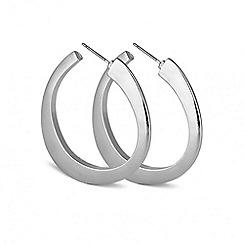 Principles by Ben de Lisi - Designer angular silver hoop earring