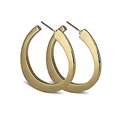 Principles by Ben de Lisi - Designer angular polished hoop earring