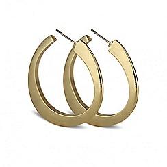Principles by Ben de Lisi - Designer angular polished hoop earring