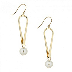 Principles by Ben de Lisi - Designer long pearl twist drop earring
