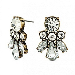 Principles by Ben de Lisi - Designer mixed crystal cluster stud earring