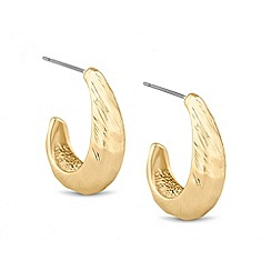Principles by Ben de Lisi - Designer brushed gold half hoop earring