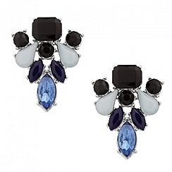 Principles by Ben de Lisi - Designer mixed blue stone cluster earring