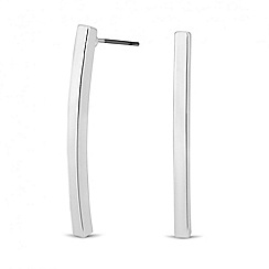 Principles by Ben de Lisi - Designer polished silver stick earring