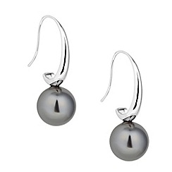 Principles by Ben de Lisi - Designer grey pearl polished hook earring