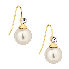 Principles by Ben de Lisi - Designer crystal top cream pearl drop earring