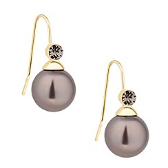 Principles by Ben de Lisi - Designer crystal top mink pearl drop earring