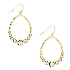 Principles by Ben de Lisi - Designer pearl encased hoop drop earring
