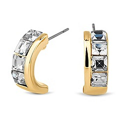 Principles by Ben de Lisi - Designer crystal encased half hoop earring