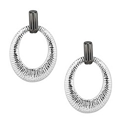 Principles by Ben de Lisi - Designer textured oval link drop earring