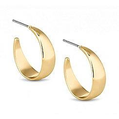 Principles by Ben de Lisi - Designer polished gold hoop earring