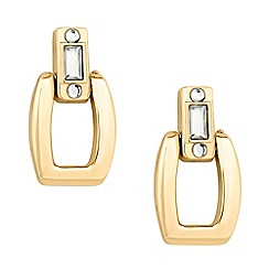 Principles by Ben de Lisi - Designer polished gold crystal link earring