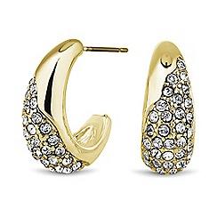 Principles by Ben de Lisi - Designer gold crystal half hoop earring