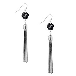 Principles by Ben de Lisi - Designer blue bubble tassel drop earring
