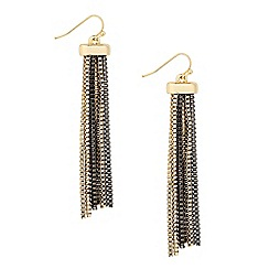 Principles by Ben de Lisi - Designer two tone box chain drop earring