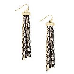 Principles by Ben de Lisi - Designer two tone box chain drop earring