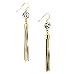 Principles by Ben de Lisi - Designer crystal bubble tassel drop earring