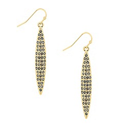 Principles by Ben de Lisi - Designer grey crystal navette drop earring