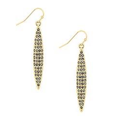 Principles by Ben de Lisi - Designer grey crystal navette drop earring