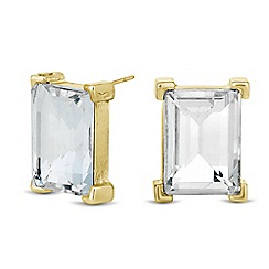 Principles by Ben de Lisi - Designer crystal baguette stud earring