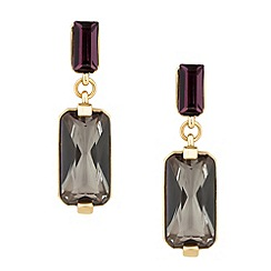 Principles by Ben de Lisi - Designer purple and grey crystal drop earring