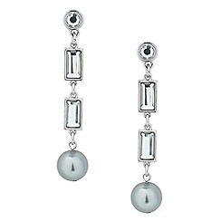 Principles by Ben de Lisi - Designer baguette and pearl drop earring
